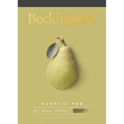 Bockingford A4 Acrylic Pad 12 Leaf 360gsm