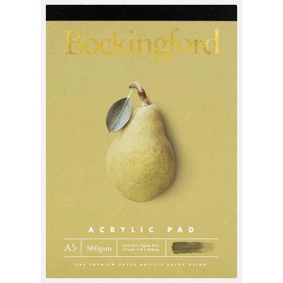 Bockingford A5 Acrylic Pad 360 GSM 12-Leaf