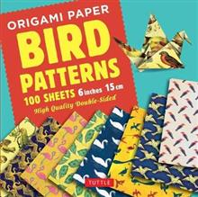 Origami Paper Bird Patterns - 100 Sheets