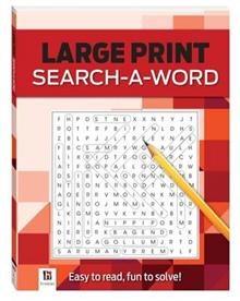 Large Print Puzzles Series Red