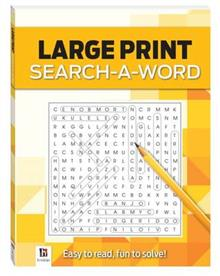 Large Print Puzzles Series Yellow