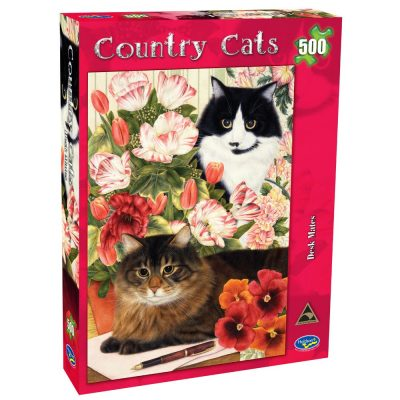 Country Cats Desk Mates Jigsaw 500 Piece