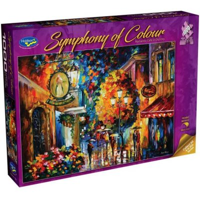 """Symphony of Colour """"Romantic Cafe in Old City"""" 1000 Piece Jigsaw Puzzle"""
