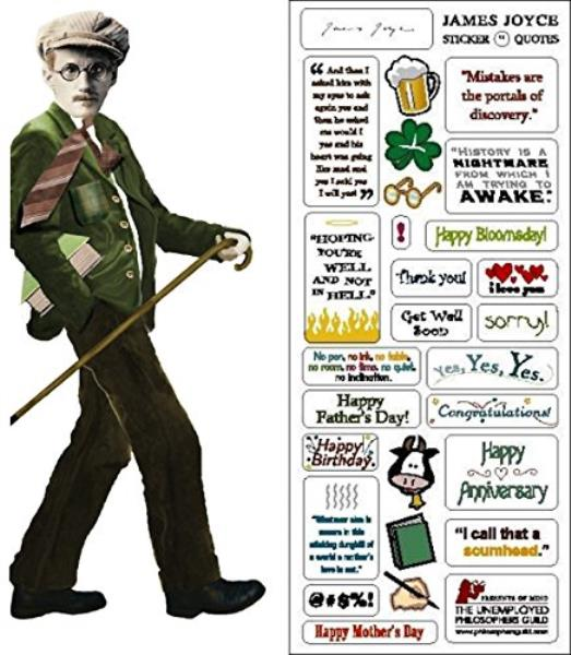 James Joyce Cut Greeting Card and Stickers