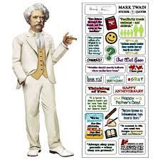 Mark Twain Cut Greeting Card and Stickers