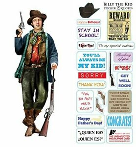 Billy The Kid Cut Greeting Card and Stickers