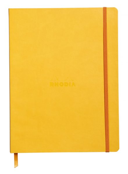 Rhodiarama 19x25cm Softcover Notebook Dot Grid - Daffodil