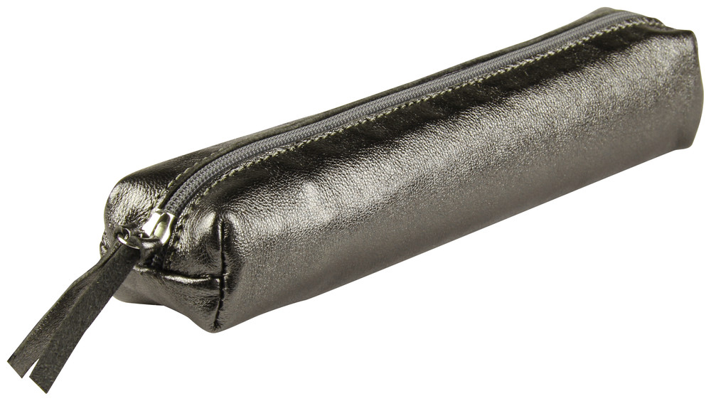 Cuirise Leather Slim Pencil Case - Graphite