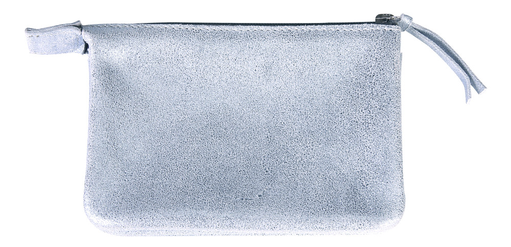 Plume Iridescent Suede 2 Pocket Case - Sky Blue